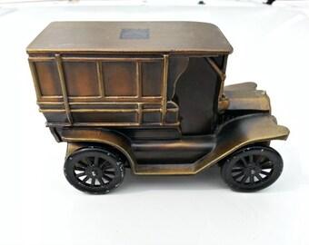 Vintage Banthrico Cast Metal Bank - 1915 Ford Omnibus