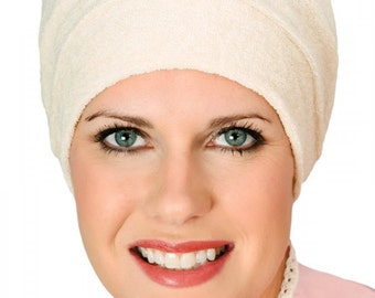 Three Seam Terry Turban - Terry Cloth Turban for Women with Hair Loss - Cancer, Chemotherapy, Alopecia, Chemo, Cancer Turban