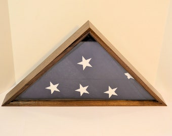 "Walnut 5"" x 9 1/2"" Burial Flag Case"