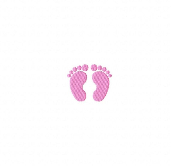 mini baby feet machine embroidery design by cutencooldesigns. Black Bedroom Furniture Sets. Home Design Ideas