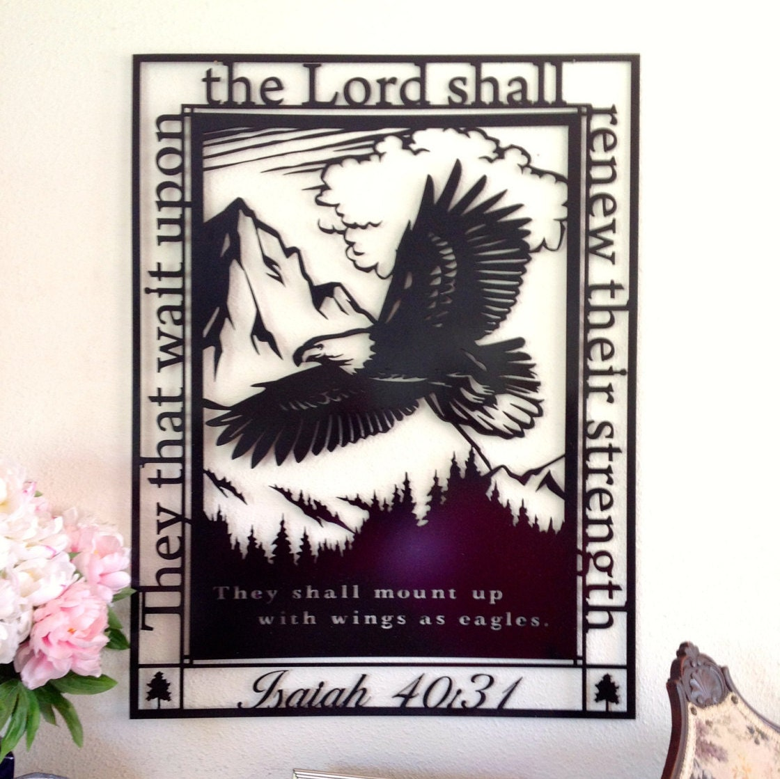 Scripture Wall Art Home Decor : Home decor scripture art metal wall they that