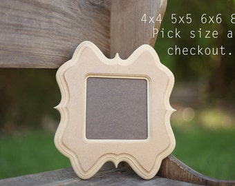 Picture Frame,Unpainted,Unfinished,Distressed,Diy 4x4 5x5 6x6 8x8