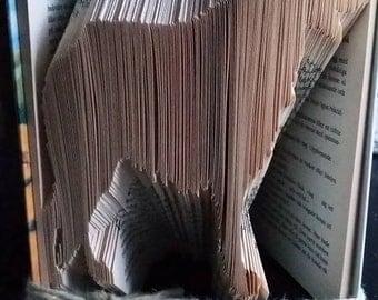 """Book folding pattern """"German Shepherd"""""""