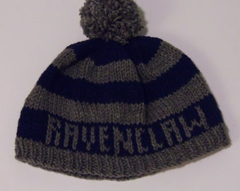 Ravenclaw Knitted Hogwarts House Hat - Made to Order