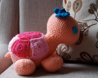 Stuffed Animal - Tina the Turtle - A Crocheted Friend for the Young and Young at Heart