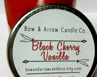Natural Soy Candle Cherry Vanilla Scented | 7 oz Jar Candle | Cherry Scented | Vanilla Scented Candle | Cherry Vanilla Candle | Gift Idea