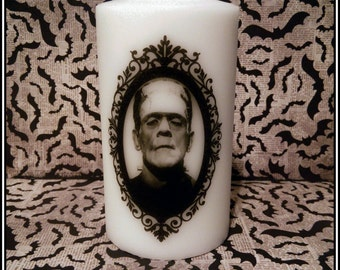 CLEARANCE Frankenstein Monster Large Pillar Candle Boris Karloff Horror
