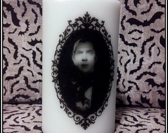 CLEARANCE Dracula Large Pillar Candle Bela Lugosi Horror