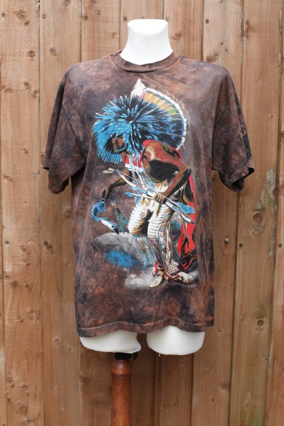 sale the mountain brown tie dye native t shirt. Black Bedroom Furniture Sets. Home Design Ideas