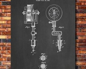 Tattooing Machine Patent Print Art 1891