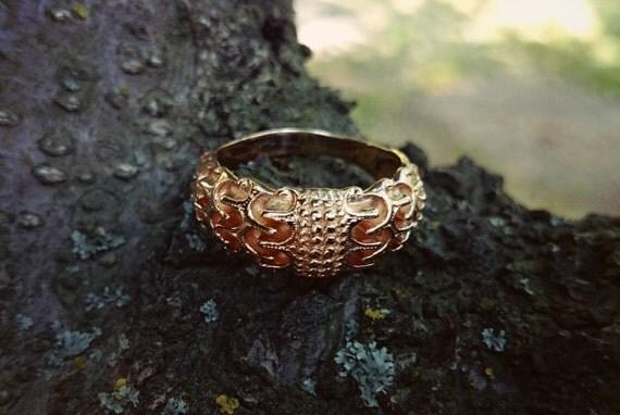 Gold Odin S Ring Draupnir Ring Gold 18k Viking Ring