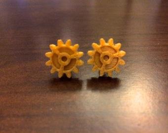 Gear Earrings in Gold Color