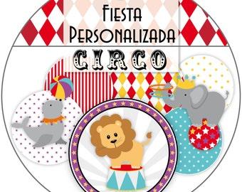 Custom Candy Bar printable Kit + Circus Circus carnival + full