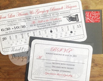 Vintage Train Ticket wedding invitation, Train Ticket Invite, Train Wedding Invitation, Ticket Wedding Invitation, Steampunk wedding invites