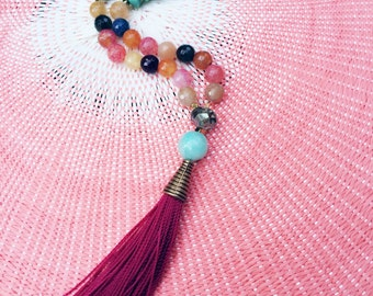 "Long beaded Tassel necklace "" Ayodelle"""