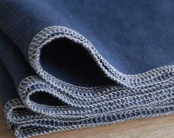 MOTHER'S DAY GIFTS, Navy Blue Linen Napkins, Choose Your Quantity