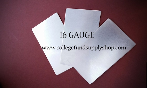 16g. 3003 ALUMINUM WALLET INSERT, sets of 3 stamping blanks, card blanks, metal credit card for etching, metal blank, hand stamping supplies
