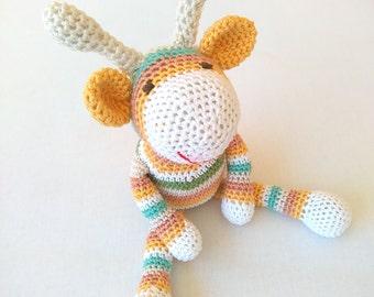 Crochet toy, amigurumi toy, crochet giraffe, baby toy, crochet animal, baby gift, amigurumi animal, gift for kids