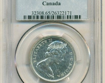 Canada Silver 1965 50 Cents PL65 PCGS