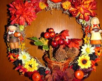 Fall Festive Pilgrim wreath