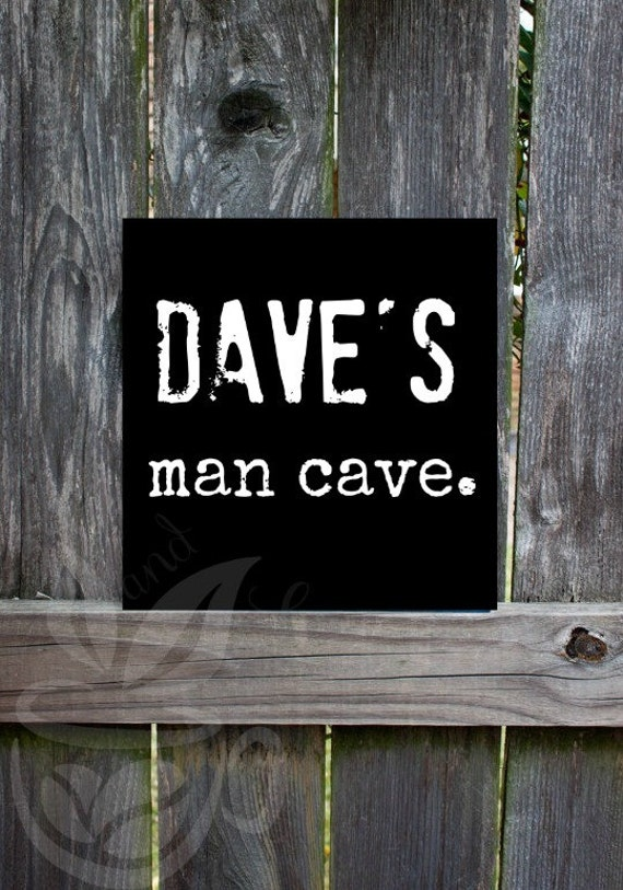 Man Cave Names : Custom name man cave sign decor mens by