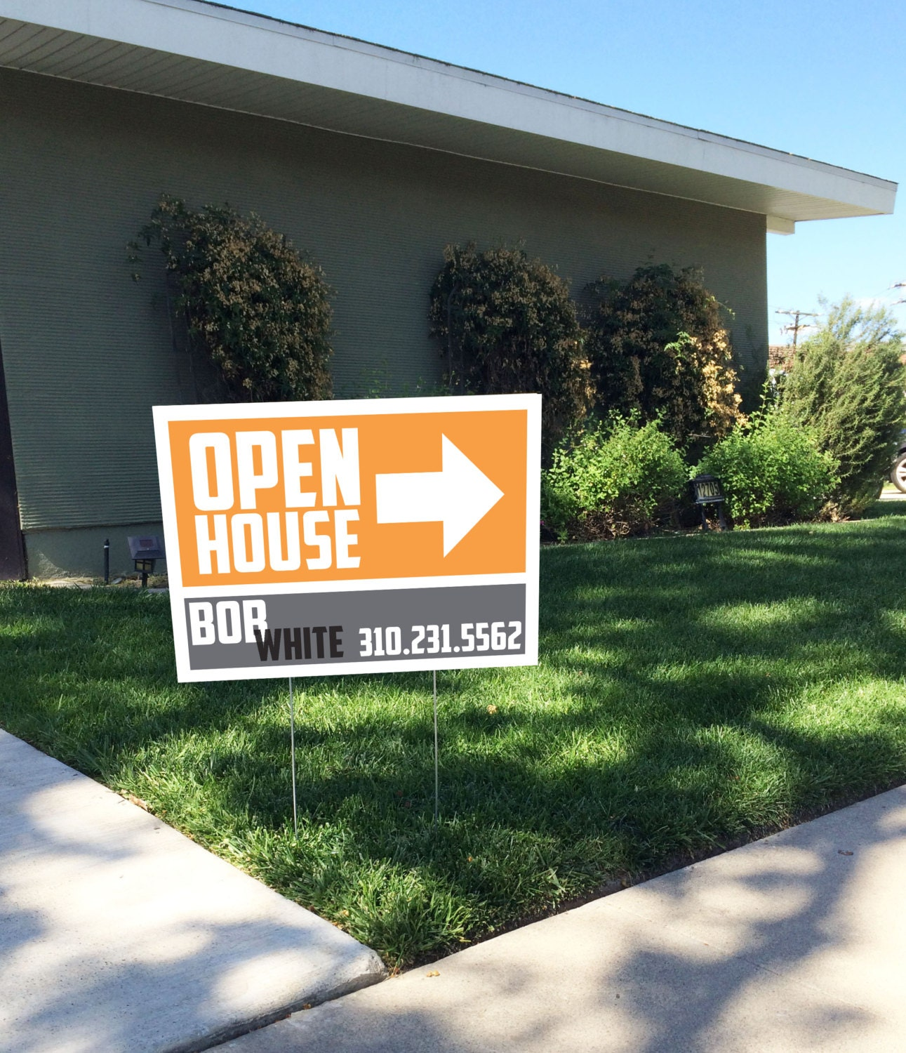 Cool Simple Modern Realtor Open House Yard Sign By Ladyluckpr