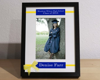 High School Graduation Gift, Graduation Gift, Personalized Frame, Custom Frame, Congratulations Graduate, College Graduation,