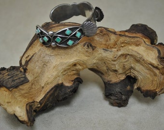 Sterling Silver Vintage Turquoise Cuff Watchand