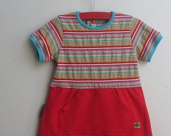 Baby summer onesiedress size 9-12 months,  babygirl summer clothes, baby dress size 9-12 months, baby onesiedress with short sleeves