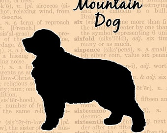 Bernese Mountain Dog Silhouette