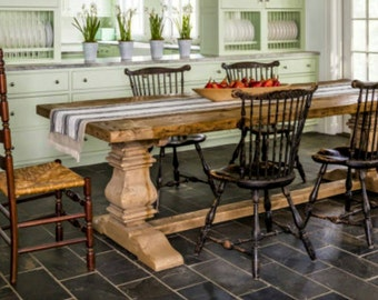 Farmhouse pedestal  table