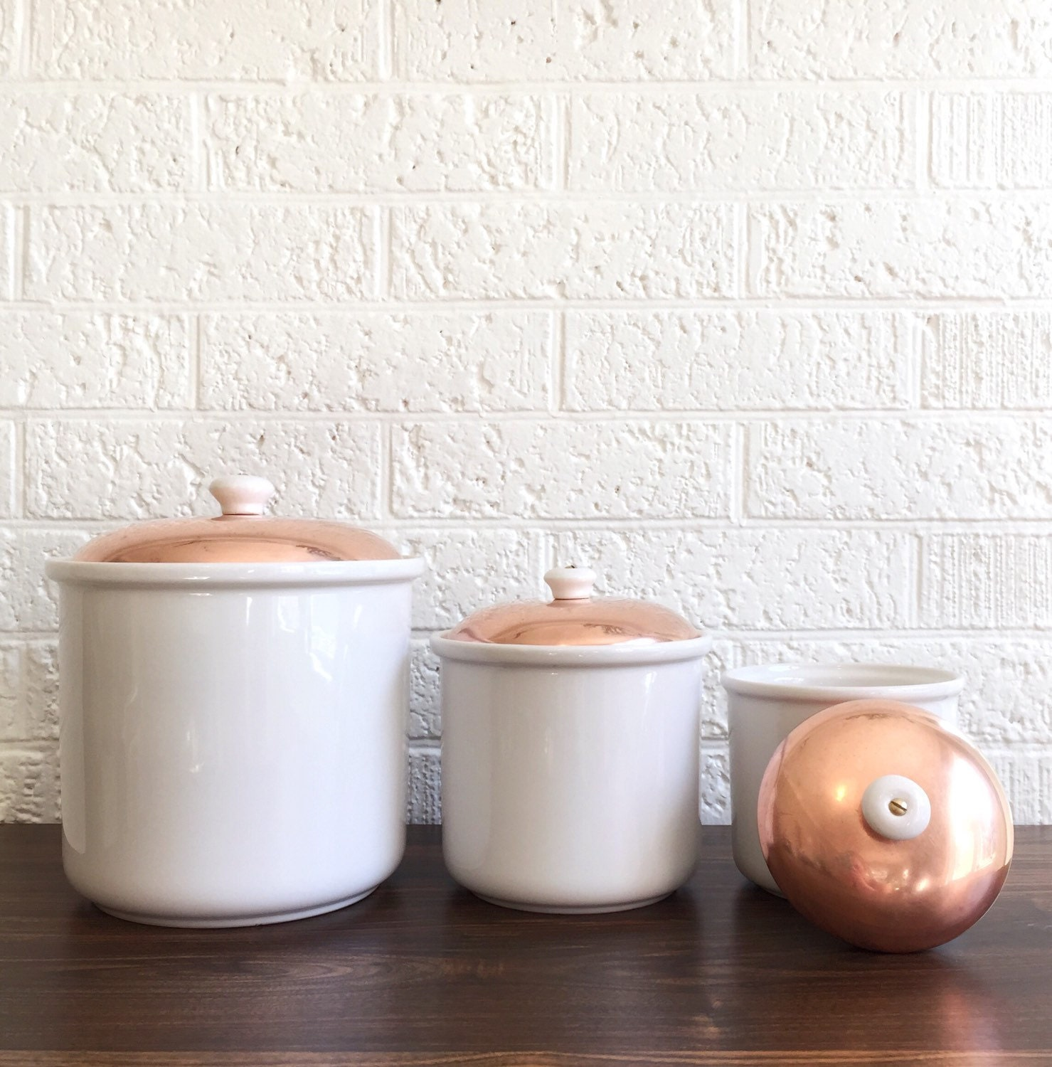 kitchen storage containers ceramic vintage copper and white kitchen canisters ceramic copper 6157