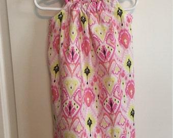 Pink/Yellow Pillowcase Dress