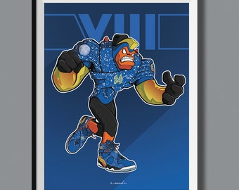 "Beasts in Sneaks - Air Jordan 8 VIII ""Doernbecher"" inspired art print. Sneaker Art"