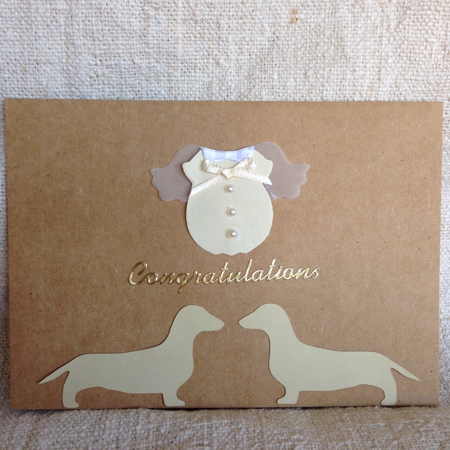 Dachshund Baby Shower/Congratulations Card By RedBarnAustralia