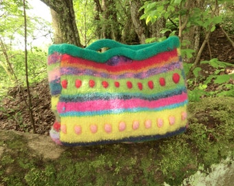 Colorful felt bag