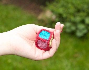 Crochet Cube cat toy