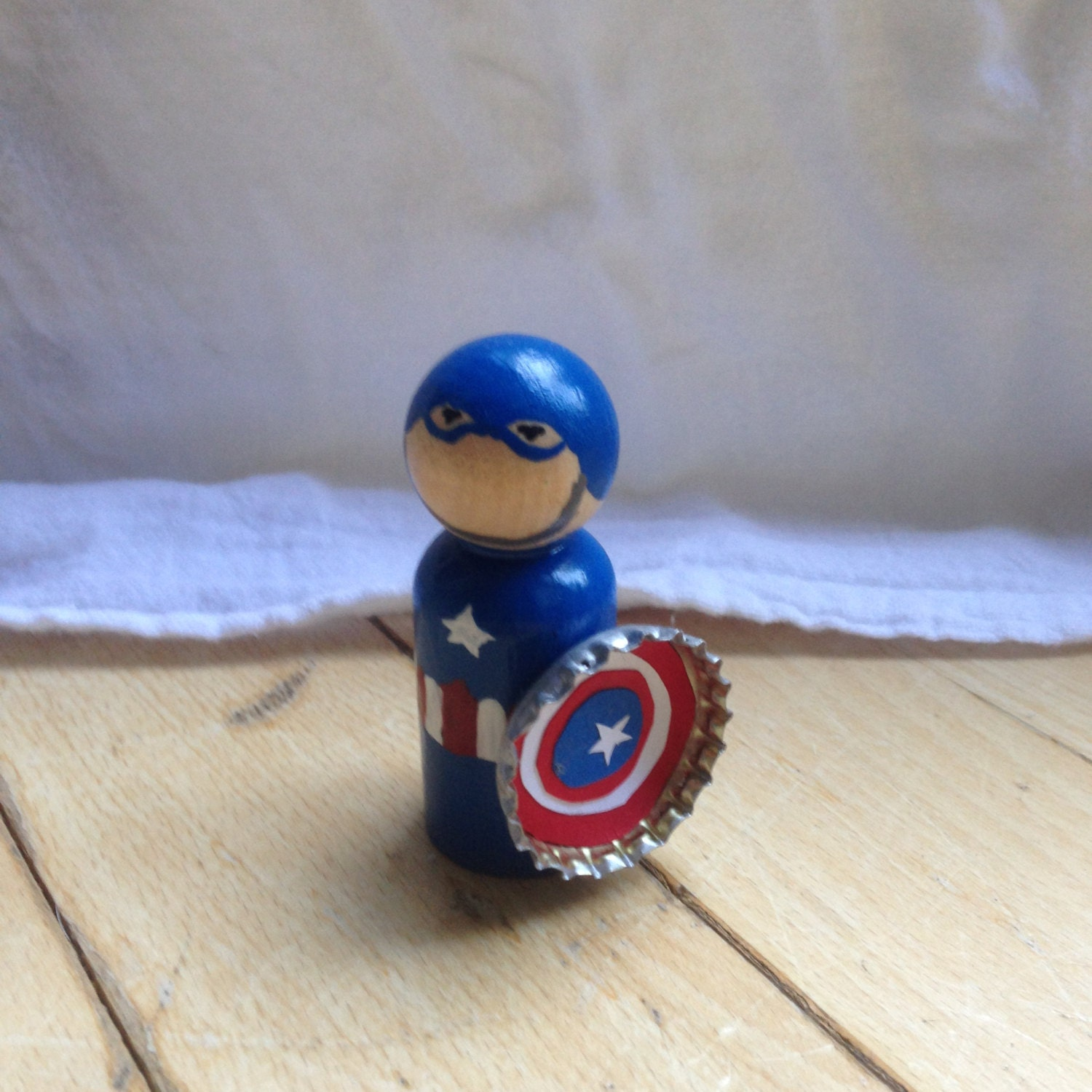 Marvel Captain America Steve Rogers peg doll