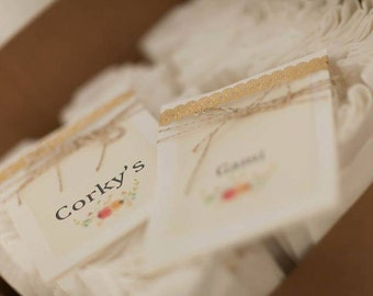 Wedding Table Tents + Table Number Tents + Custom Table Tents + Rustic