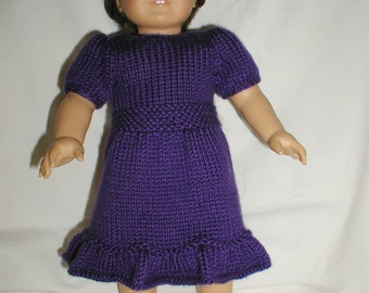 """Hand Knitted Dress for 18"""" Dolls"""