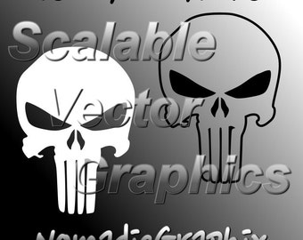 The Punisher Vector Design - 3 Cut Files - SVG / DXF / EPS