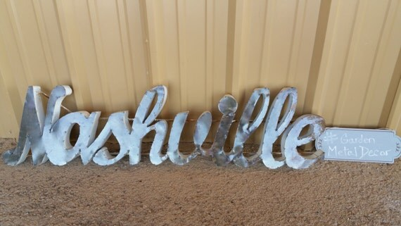 Nashville metal sign nashville home decor nashville sign for Home decor stores in nashville tn