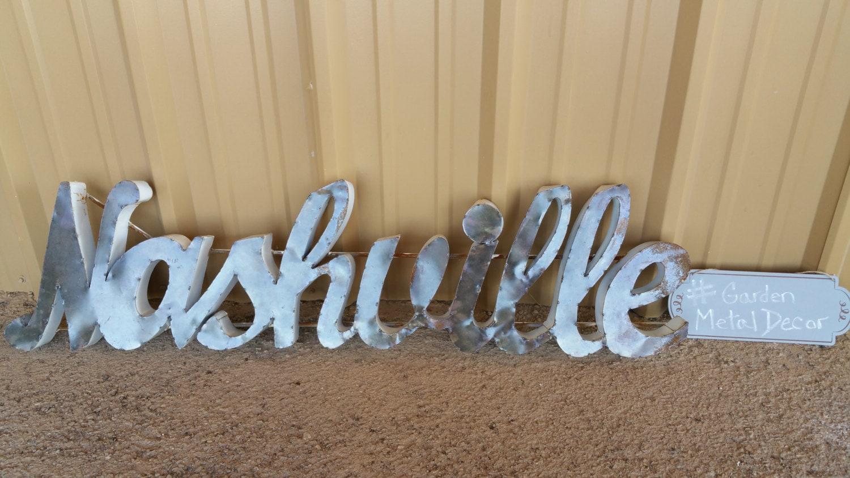 Nashville metal sign nashville home decor nashville for Home decor nashville tn