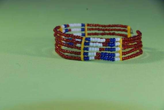 multi stranded maasai beaded bracelet 6 by maasaivillagemarket