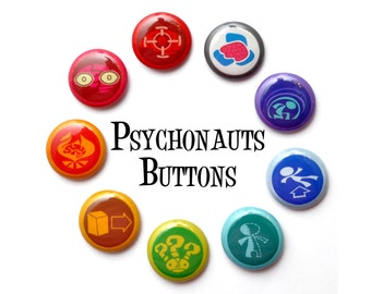 "Psychonauts Inspired 1"" Button Set"