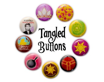 "Tangled Inspired 1"" Button Set"