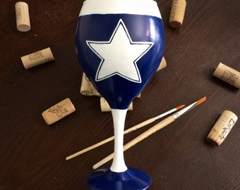 Dallas Throwback Game Glass