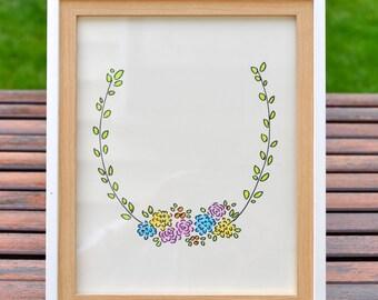 Horse Shoe Flower Wreathe - Personalized