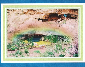 """Note card: from original watercolor """"Ghost Town"""" Paper & Party Supplies, Paper, Stationary, Notecards, Greeting Cards, Art and Collectibles"""
