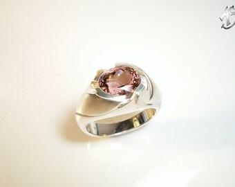 Tourmaline tourmaline ring rose